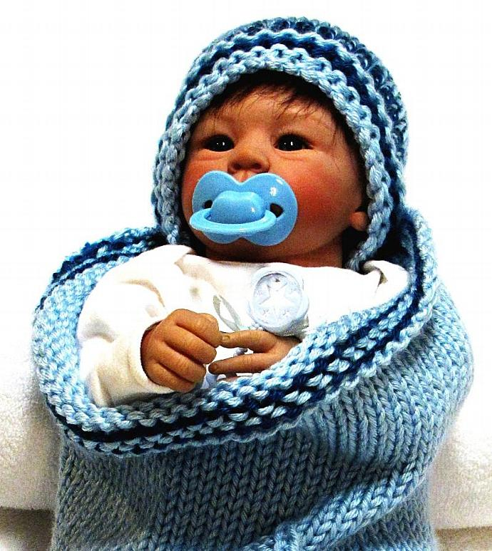 Knitting Pattern, Baby Cocoon with SAILBOAT DESIGN, Permission to Sell Finished