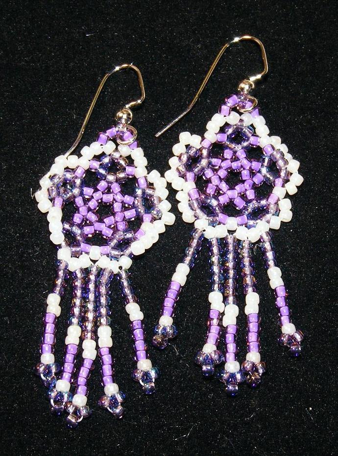 Purple Flower Power Earrings