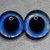 16mm German Glass Eyes ,teddy bear,Sky blue and gold,glass eyes,teddy bear eyes,