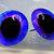 16mm German Glass Eyes ,teddy bear,Sapphire and Lavender,glass eyes, teddy bear