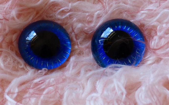 22mm German Glass Eyes,teddy bear,Deep Blue,glass eyes, teddy bear eyes, hand