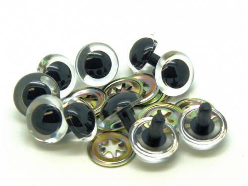 14mm, 16mm CLEAR - TRANSPARENT Teddy Bear/Plushie/Felting/Crochet Safety Eyes