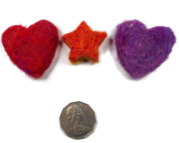 SACHET  Drawer Freshener x3 - Lavendar,Rose Petal,Drawer Freshner,Felting,Hand