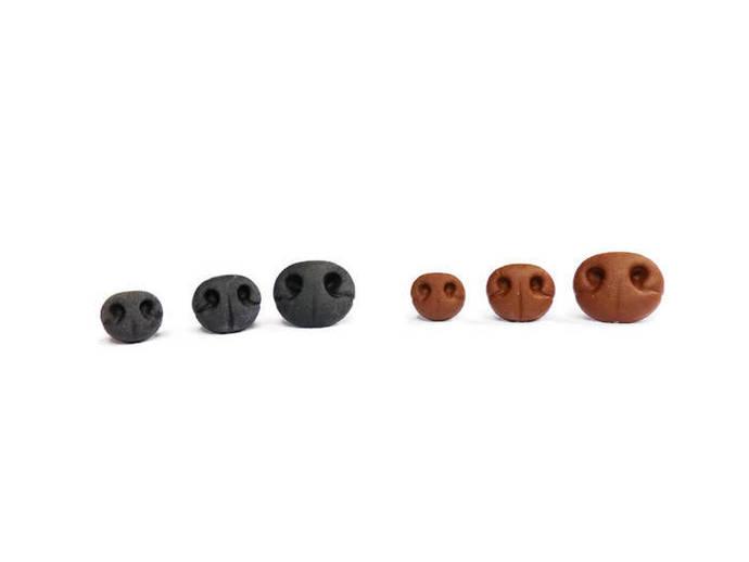 Teddy Bear Nose,Safety Nose,Black,SOFT FEEL Realistic Teddy Bear Nose,Animal
