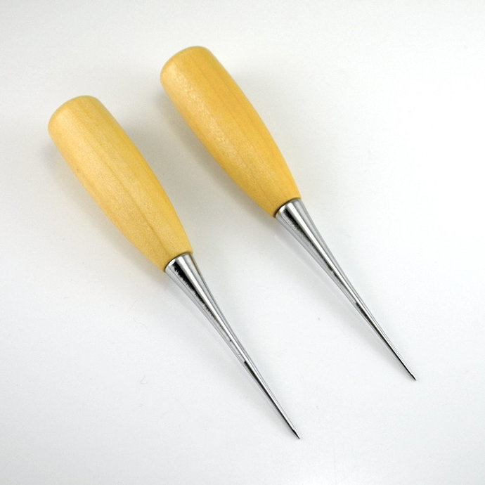 Awl - Wood Handle Steel Needle used for inserting Teddy Bear Eyes, Inserting