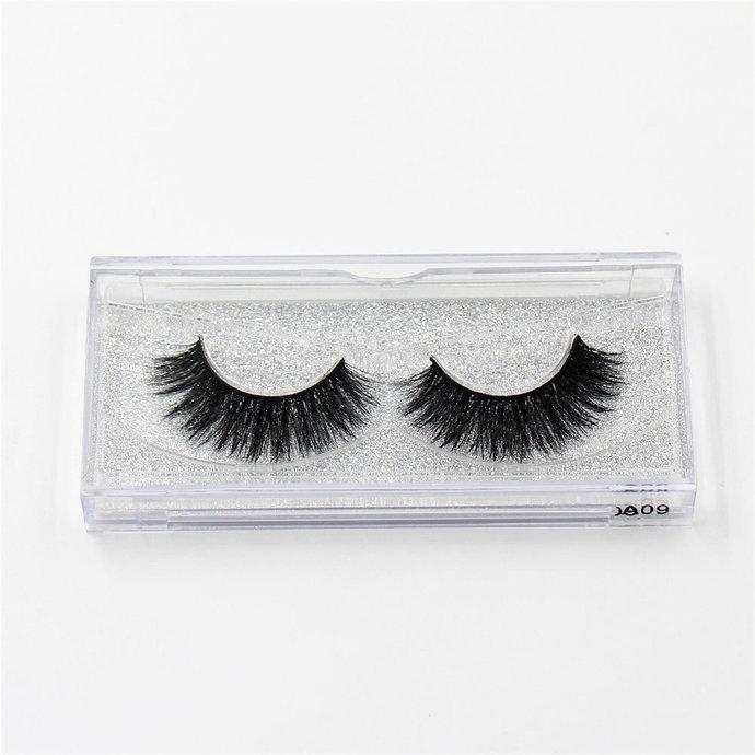 MINK EYELASHES Style A09 - Eyelashes,Thick Black,10 mm -15 mm length,Teddy Bear