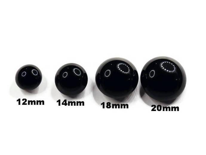 Teddy Bear English Glass Eyes,English Best Quality Shiny Black Eyes,Best Quality