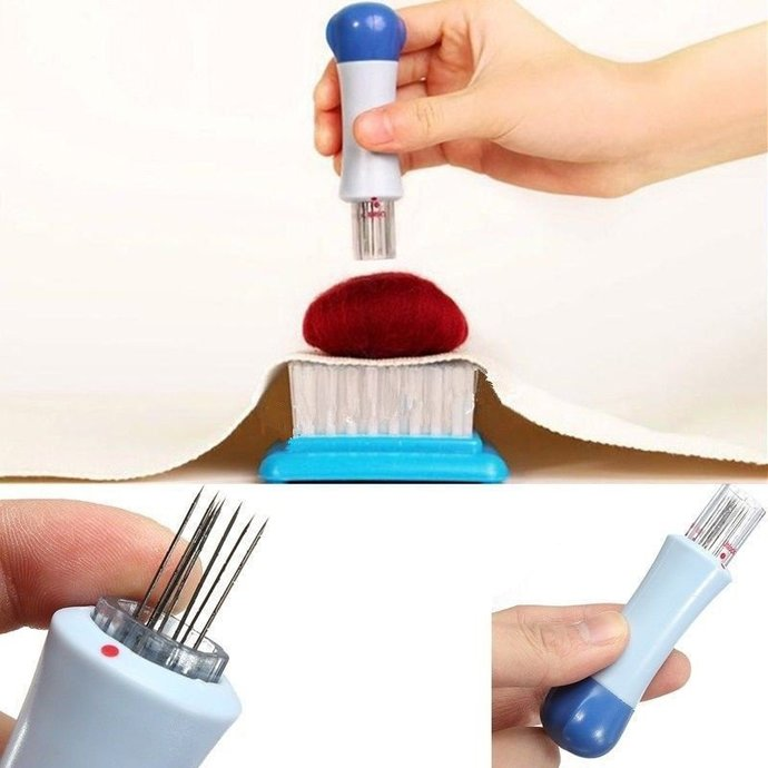 Needle Felting Punch Tool w/ 7 Needles included, Make your needle felting