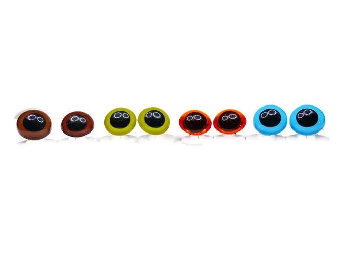 18mm Safety Eyes Heavy Duty Plastic Washer Sky Blue/Brown/Amber/Olive Green/Gold