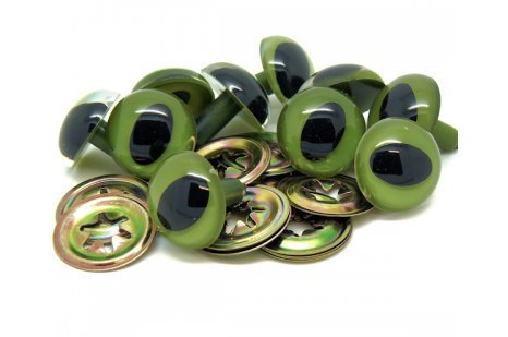 12mm High Quality Olive Green/ Green Cat/Lizard/Reptile/Felting/ Plastic Safety