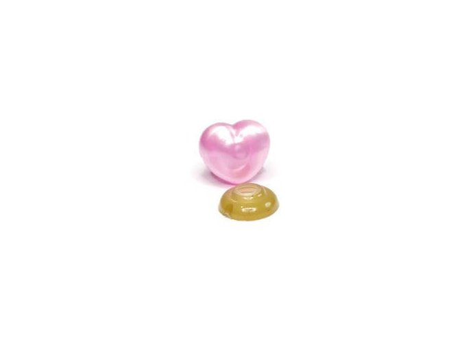 Safety nose, pink, Heart shaped, bear nose, teddy bear nose, 18mm,animal nose