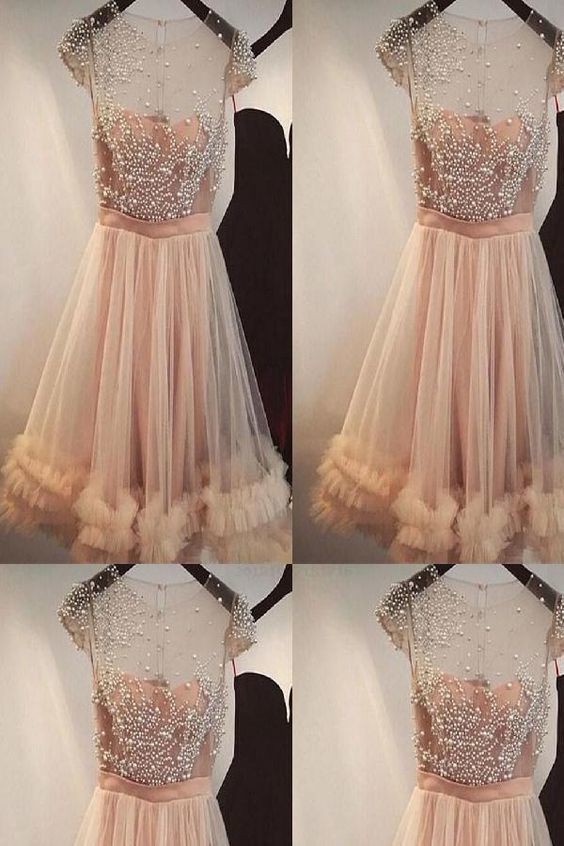 Light Cute Homecoming Dresses, Beautiful Homecoming Dresses, A-Line Homecoming