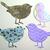 4 pc Fancy Birds Metal Cutting Die Set