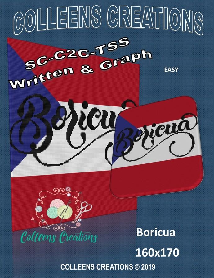 Boricua Crochet Written and Graph Design