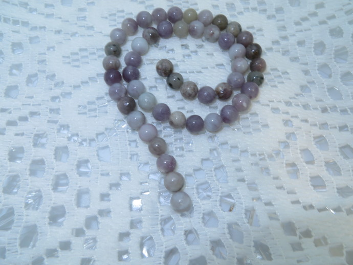 8mm round Lilac Stone Gemstone beads, sold by 16 inch full strand