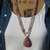 Stunning Rose quartz Long double wrap Beaded Necklace with Agate Pendant by