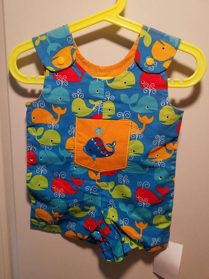 Clearance Short Overalls Size Infant 3-6 Months sunfaded shoulders