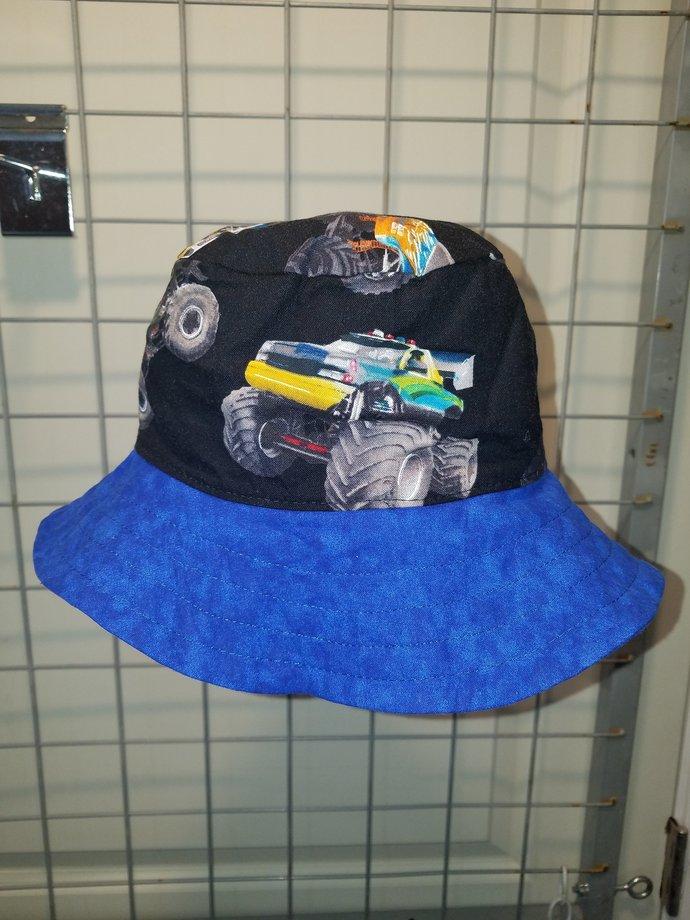 Reversible Infants size 17 inch Monster Truck hats