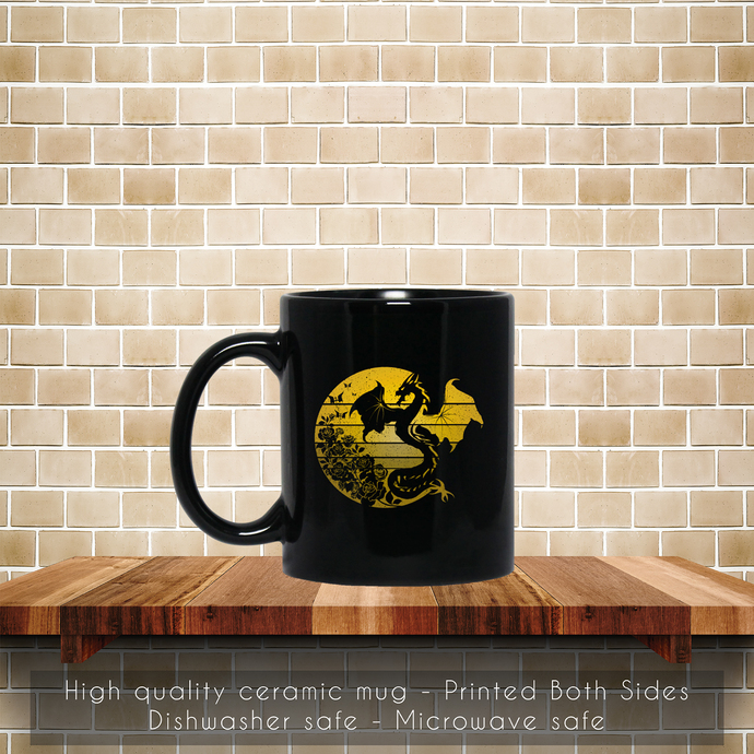 Dragon Flowers Vintage Coffee Mug, Tea Mug, Coffee Mug, Dragon Flowers Mug,