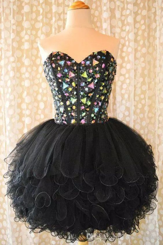 Ball Gown Sweetheart Flouncing Ruffles Short Homecoming Dresses Colorful
