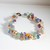 gemstone handmade multi stones bracelet crystals Free Matching Earrings