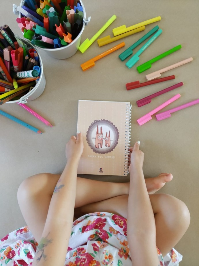 A4 OR A5 spiral notebook with 50 pages