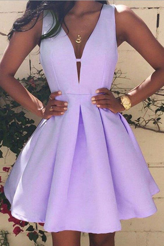 A Line  Homecoming Dress,Short Party Dress