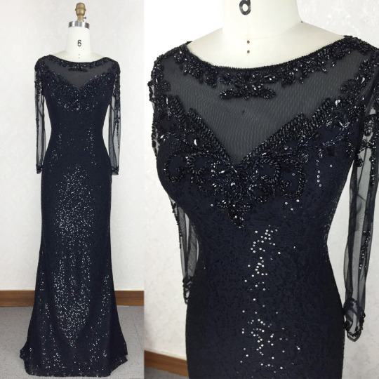 Sexy Prom Dress, Long Prom Dress, Black Prom Dress, Formal Prom Dress ,sequin