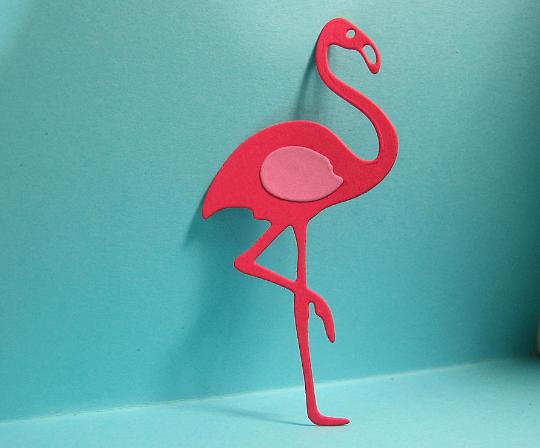 2pc Flamingo Metal Cutting Die Style #1 Bird Die Set