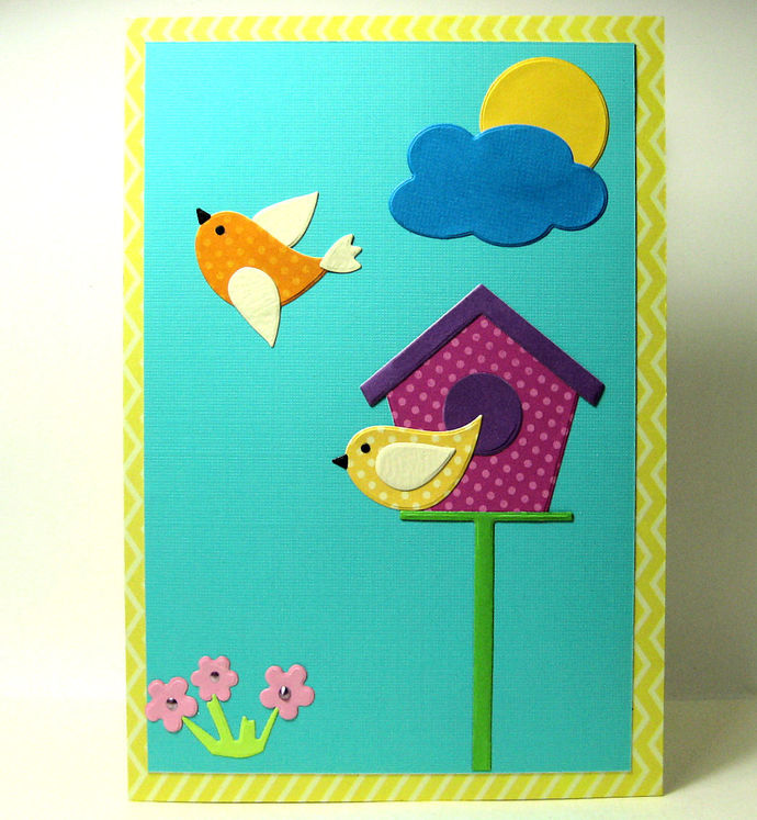 Birdhouse, Birds, Flower, Cloud and Sun Metal Cutting Die Set