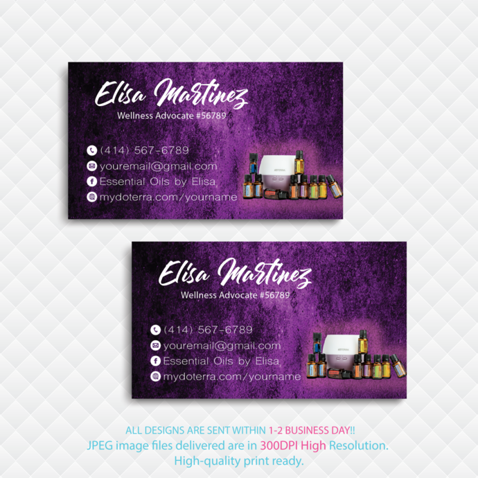 Personalized Doterra Business Card, Essential Oil card, Essential Oil Business