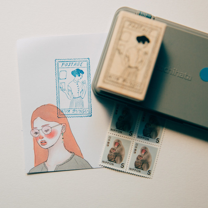 La Dolce Vita wooden stamp - Stamp girl - perfect for journaling & happy mail