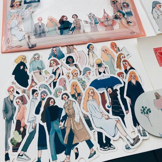 La Dolce Vita sticker set (30 pieces) in a tin - Dearest - perfect for