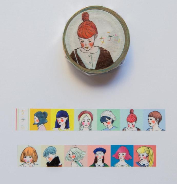 La Dolce Vita washi tape - Pai Pai girls - perfect for journaling & happy mail