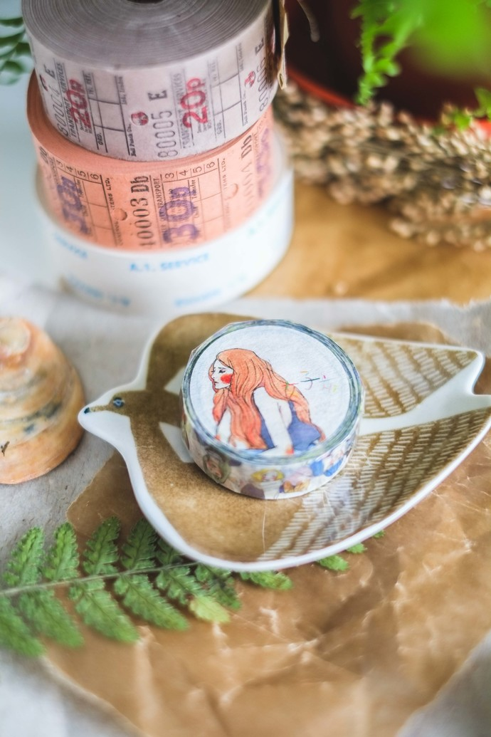 La Dolce Vita washi tape - Luan Luan girls - perfect for journaling & happy mail