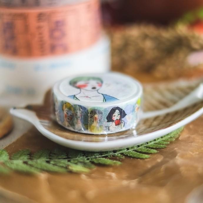 La Dolce Vita washi tape - Quan Quan girls - perfect for journaling & happy mail