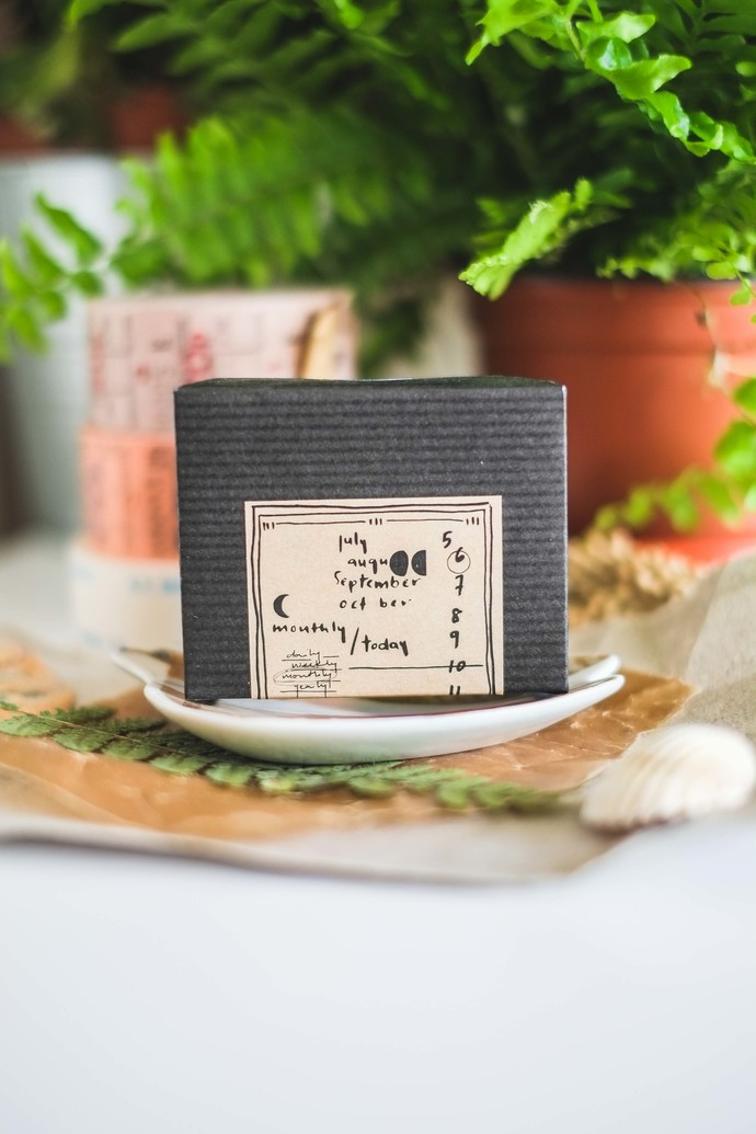 Kurukynki wooden stamp set - Monthly, Daily & Moon - perfect for journaling &
