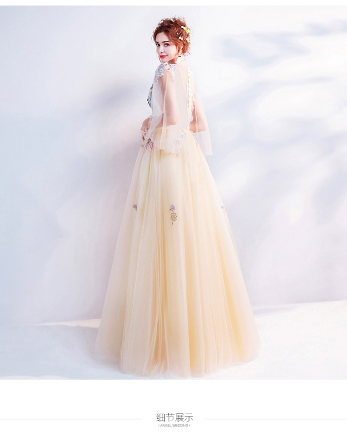 Yellow flowers bride wedding toast clothing dinner annual meeting bridesmaid
