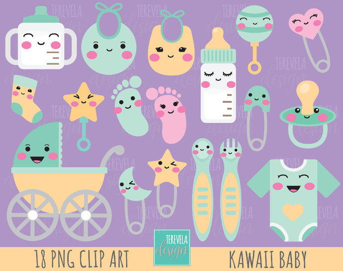 BABY clipart, baby shower clipart, pregnant mom graphics, commercial use,
