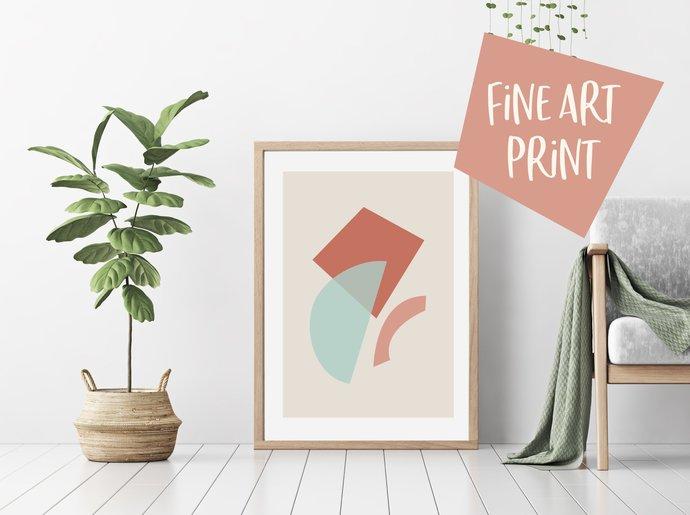 Abstract print, geometric print, shapes print, wall art, modern print, abstract
