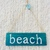 Beach sign - Handpainted on wood - Perfect wall decor for a beach house - Beachy