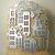10pc House Metal Cutting Die Set, Trees, Lamp Post, Fence Dies Village