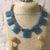 Blue Sponge Quartz Necklace and Earring Set