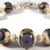 Organic Purple Bracelet - handmade sterling silver purple ivory brown black blue