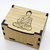 Oak Box with hinged lid for jewellery keepsakes and memory box Gautama Buddha