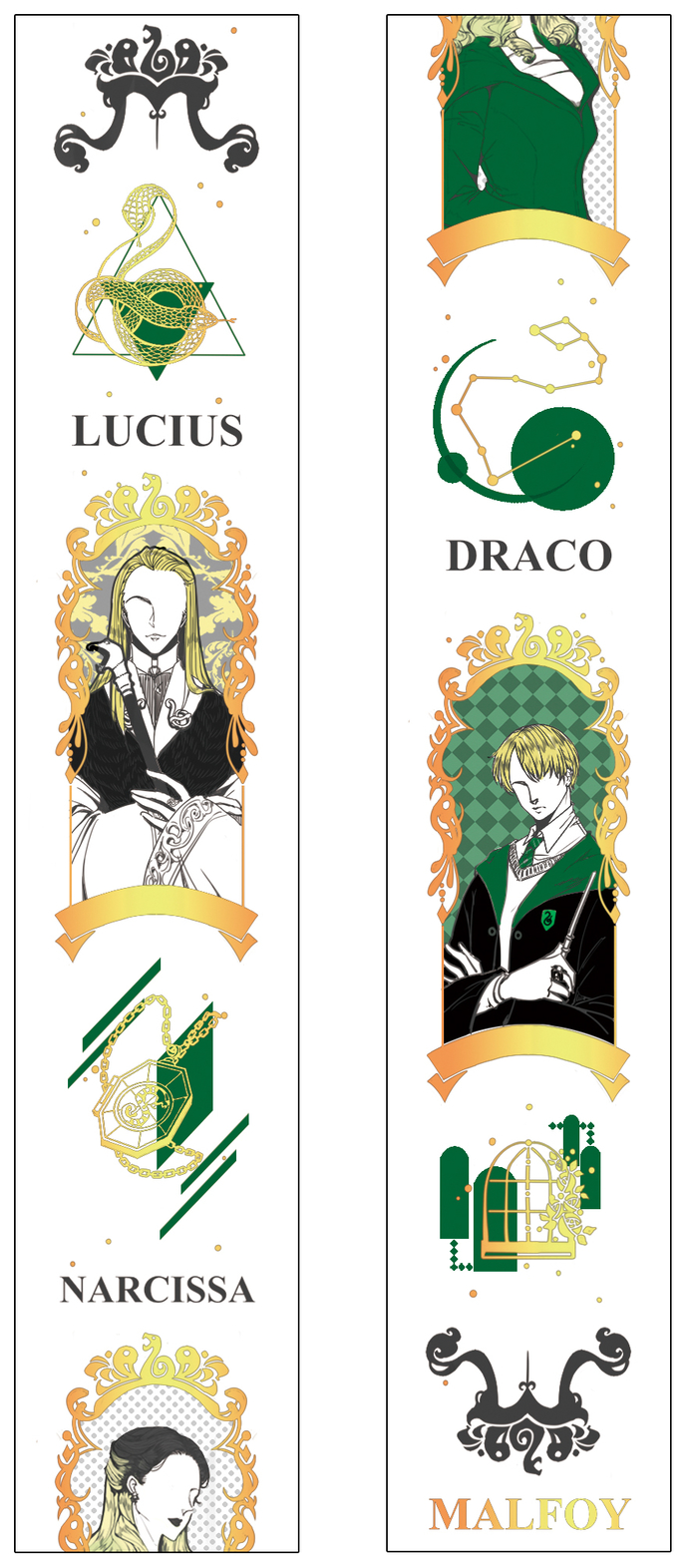 1 Roll of Limited Edition Washi Tape: Harry Potter's The Malfoy family