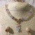 Mixed Triangle Quartz Necklace, Bracelet and Earring Set
