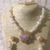 White Abalone Pearl Necklace, Bracelet and Earring Set