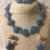 Blue Sponge Diamond Quartz Necklace and Earring Set