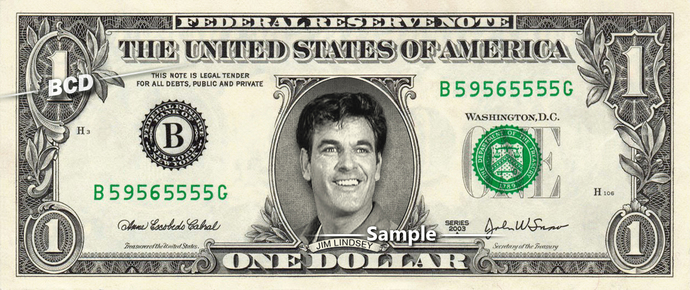 JIM LINDSEY on a REAL Dollar Bill Andy Griffith Show James Best Cash Money